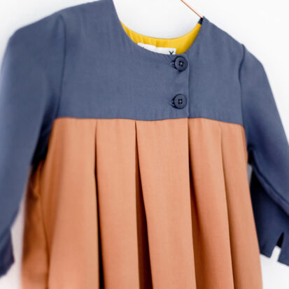 Brigitta Dress Pigeon Blue