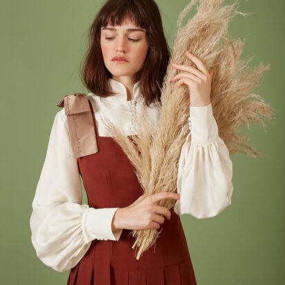 Stephanie Blouse Silk Popcorn